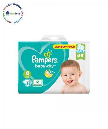pampersi pampers baby-dry 4ka 86 br anglia jumbo pack