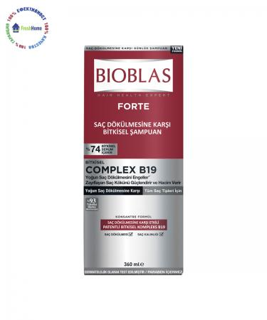 bioblas forte shampoo herbal complex b19