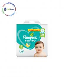 pampersi pampers baby-dry 5ca jumbo pack 72 broya