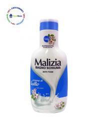 malizia dush gel 1l. mlechen krem crema di latte milk